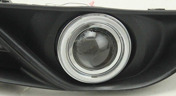 DRL COB angel eye (6 couleurs) + lentille de projecteur + H3 lampe anti-brouillard halogène + couvercle de lampe anti-brouillard pour Nissan Sylphy sentra 2012-14 - 5