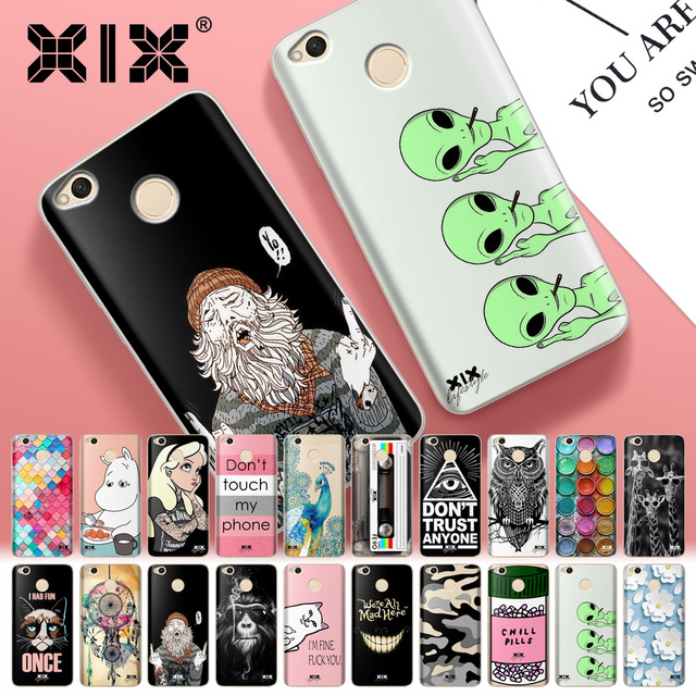 For Fundas Xiaomi Redmi 4X Case Tattoo Girls Soft TPU...