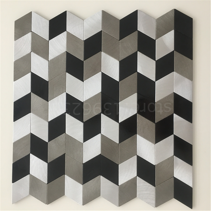Diamond design Aluminium adhesive mosaic tiles,metal mosaic,Kitchen backsplash home cabinet DIY home art indoor decor,LSALS05 прорезыватели mosaic слингобусы mono