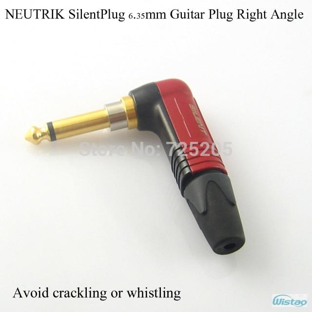 SilentPlug 6,35 мм 1/4 гитарной вилки NP2X AU SILENT NEUTRIK Швейцарии литья под давлением корпус правый угол Красный аудио собственными руками Сделай Сам Бесплатная доставка