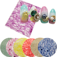 1 Sheet Colorful Glitter Line Net Nail Stickers 3D Manicure Nail Decal Uv Gel Polish Nail Decoration Accessory