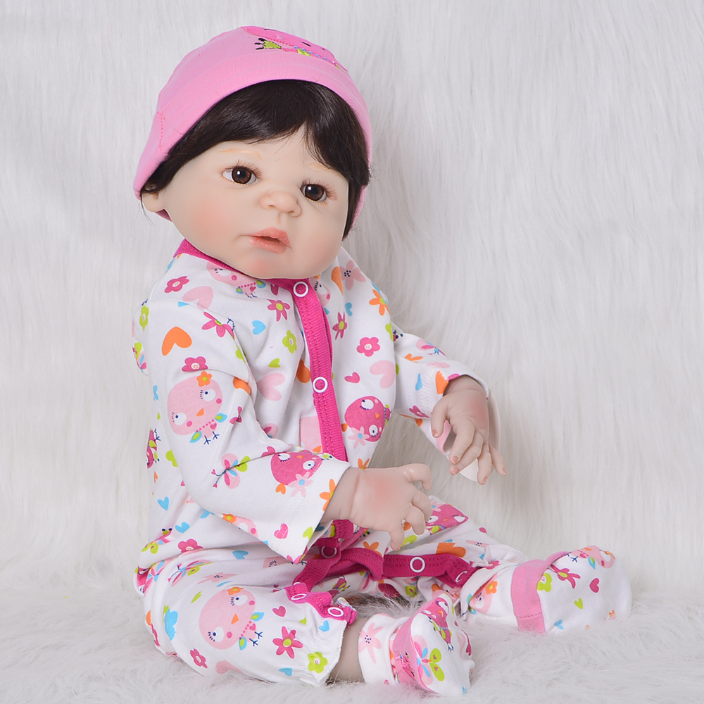 Lifelike Full Silicone Vinyl Reborn Baby Dolls 23 Realistic Girl Toy for Kids Birth Day New Year Christmas Gifts Newborn Dolls 23 inch full silicone vinyl bebe reborn baby dolls lifelike princess girl handmade toy realistic doll baby alive christmas gift