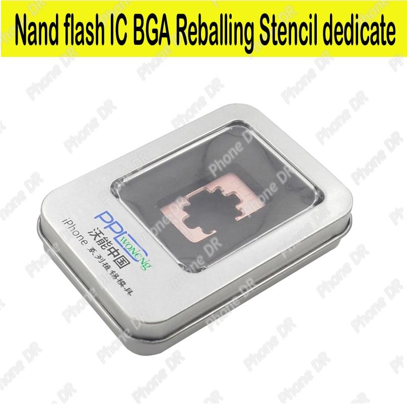 imágenes para Hdd dedicate bga reballing para iphone 4s 5 5s 6 6 s 7 plus nand IC BGA Herramientas Reball Plantillas Plantar estaño molde