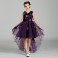 Retail Appliques Tassel Kid Girls Evening Prom Mullet Dress Belt With Flower Sequined Dot Tiered Girls