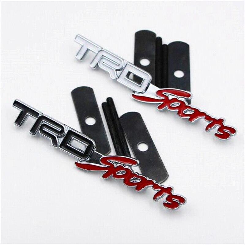 Piezas de repuesto de automóviles accesorios exterior parrilla trd-sports logo e