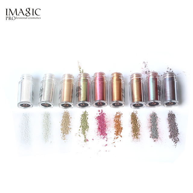 IMAGIC Pro Glitter Eyeshadow Loose Powder Shimmer Eye Shadow Nude Pigments Metallic Sparkling Makeup Beauty Cosmetics 9 Colors 2