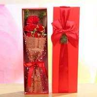 5 шт./лот обернутый мыльный букет гвоздик Многофункциональный искусственный цветок для Дня матери домашний декор с подарочной коробкой