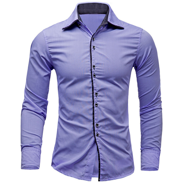 f3dd60e034 Caliente 2019 casuales de negocios camisa social masculina Slim Fit camisas  de hombres jóvenes de manga