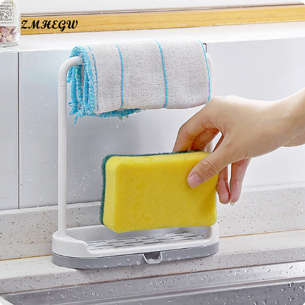 2018 New Multifunction New Hanging Bathroom Kitchen Utensil Box Hot Rag Storage rack Kitchen Tool Durable Safe Hot Selling ...