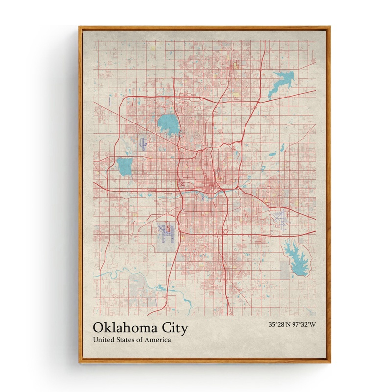 City Map New York Newcastle England Niigata Japan Oklahoma City Us
