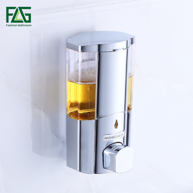 Flg Single Double Soap Dispenser Wall Mounted Shampoo Shower Helper For Bathroom Bath Accessories