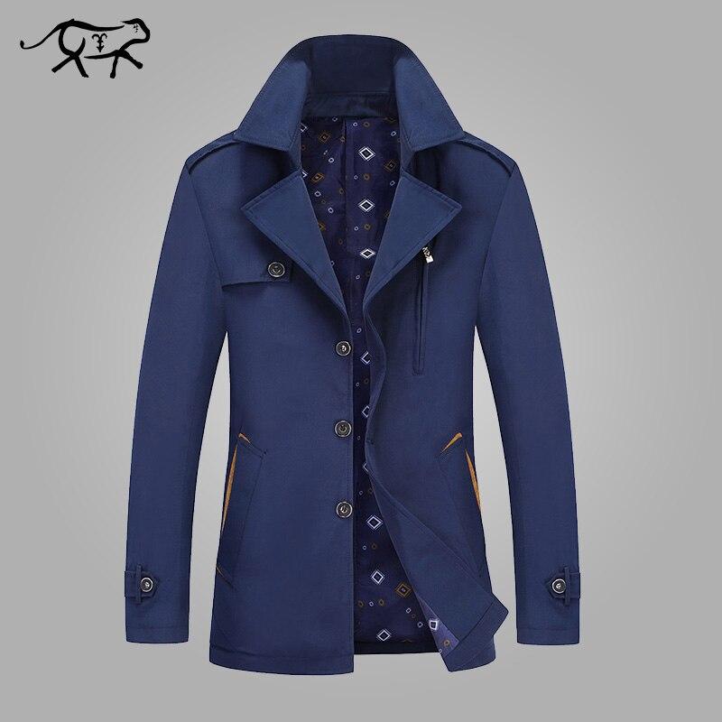 Printemps automne veste hommes décontracté pur coton hommes vestes longs manteaux coupe-vent manteaux mâle nouvelle marque vêtements