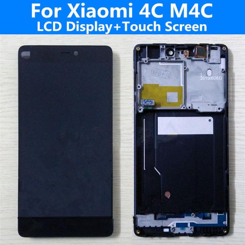 Original Mi4C Black LCD Xiaomi 4C M4C Smart Phone Display + Touch Screen Digitizer Assembly glass panel repair tools - shenzhen gangcheng Co., Ltd store