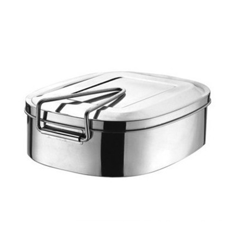 fbc7a3bc73a6 US $9.88 |Retro Stainless Steel Square Bento Lunch Box Food Container  Storage 2 Layers-in Lunch Boxes from Home & Garden on Aliexpress.com |  Alibaba ...