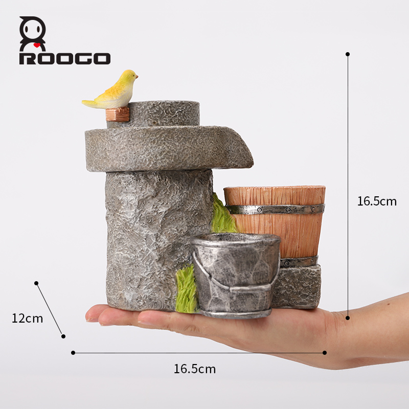 Image 5 - Roogo Antique Flower Pots Chinese Style Home Garden Plant Pot Decorative Flower Pots For Succulents Planter Fairy House-in Flower Pots & Planters from Home & Garden