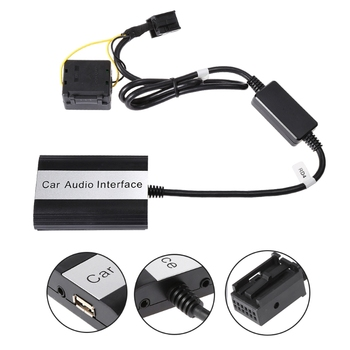 цена на Handsfree Car Bluetooth Kits MP3 AUX Adapter Interface For RD4 Peugeot CITROEN Drop Shipping Support
