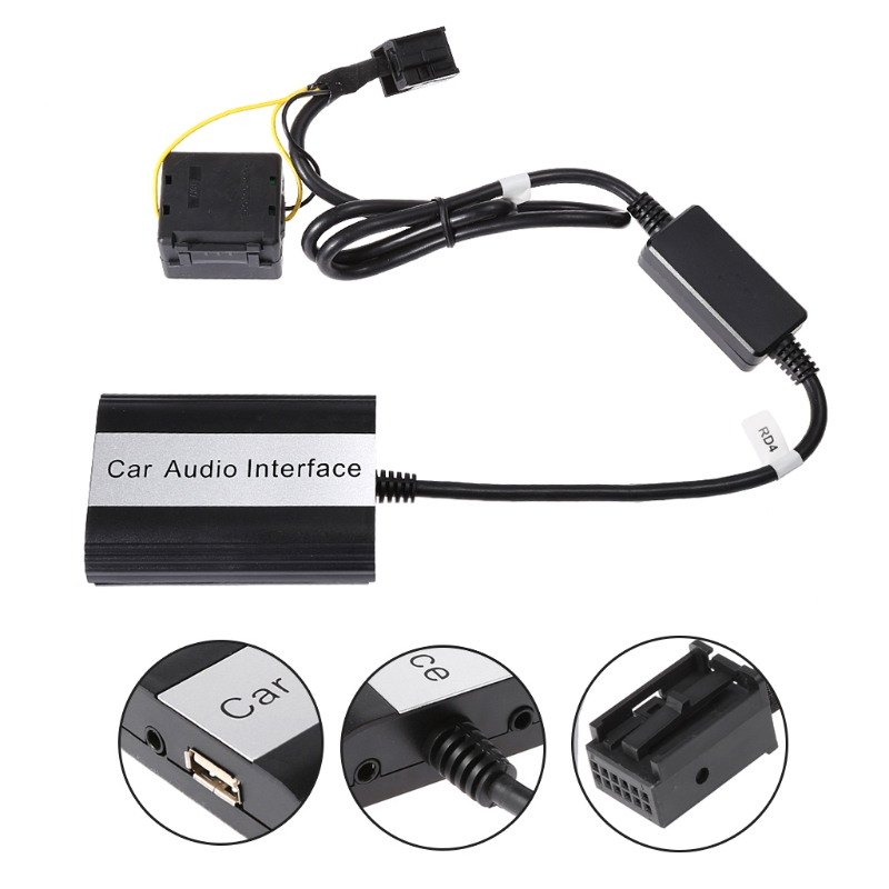 Handsfree Car Bluetooth Kits MP3 AUX Adapter Interface For RD4 Peugeot CITROEN Drop Shipping Support