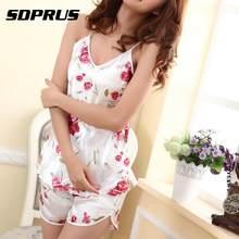 d1a67ee1093666 Casual Nachtwäsche Frauen Sexy Fashion Shirts + Shorts Hosen Blumen Rose  Pyjama Satin Silk Nachtwäsche Set heißer verkauf