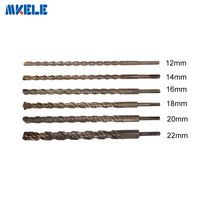350mm Bits Round Shank Hammer Twist Drill Bit For Metal 40CR Chrome Vanadium Steel Drill Woodworking