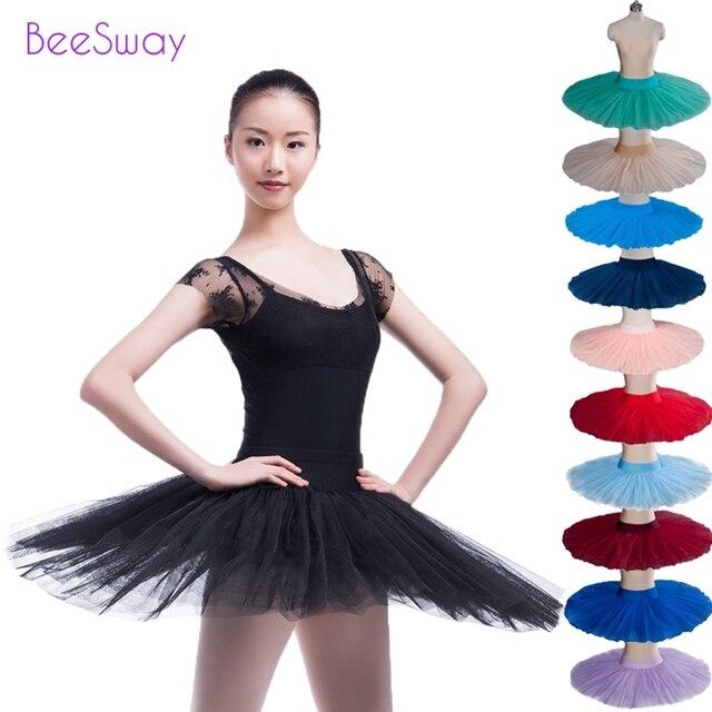 Half Ballet Tutu Dress Pink Professional Skirt Tutus Practicing Black Lilac Pancake
