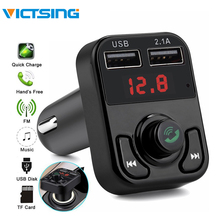 все цены на VicTsing Bluetooth MP3 Player FM Transmitter Handsfree Wireless Radio Adapter USB Car Charger 2.1A MP3 Player SD Music Playing онлайн