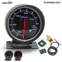 60mm LED Df BF Oil Pressure Gauge Meter Red & White Light Fit Auto Auto Motore Per Ford Focus ZETEC 05-07 TK-BF60003-OILP
