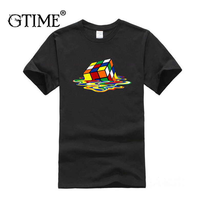 Contemplative Dropshipping Gtime Summer Men Tees The Big Bang Theory Printed Stylish Design Rubik Cube Casual Cotton Short Sleeve Tees Yjy166 Relieving Rheumatism And Cold T-shirts Men's Clothing
