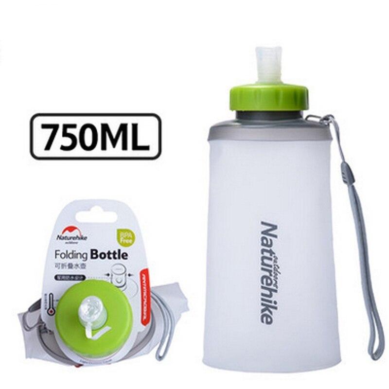 Nueva Llegada de Silicona Portátil Plegable Botella de Agua de Excursión Al Aire