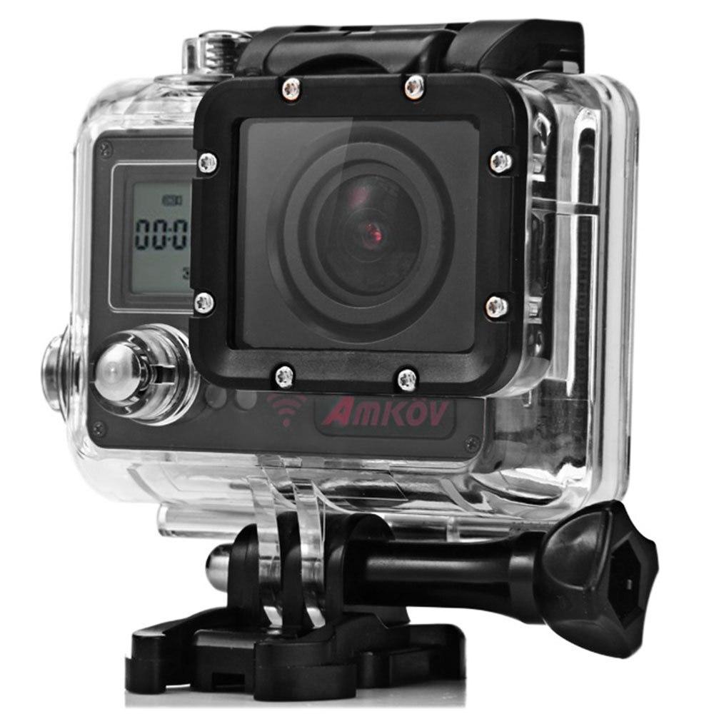 """bilder für AMKOV AMK7000S 4 Karat Ultra HD 2,0 """"LCD Wifi Sport-kamera 170 Grad Weitwinkel 1080 P 20MP Wasserdichte 40 mt Sport DV Action Kamera"""