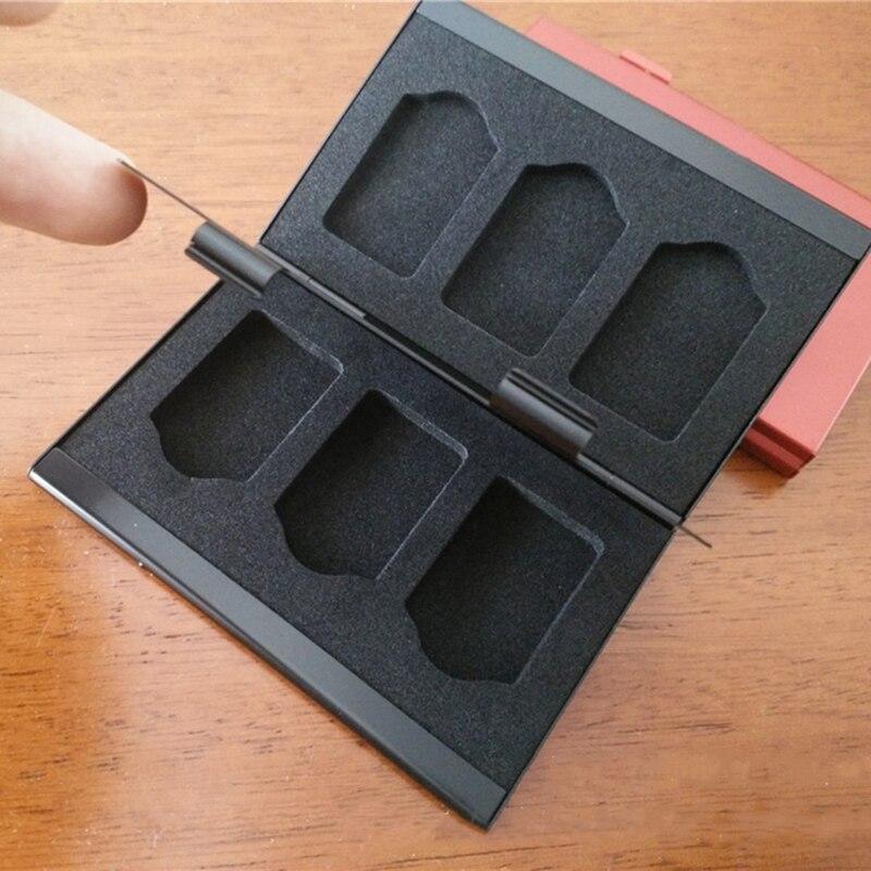 New Aluminum Nintend Switch Game Card Case 6-in-1 Cartridge Case Holder Storage Box Game Accessories 1
