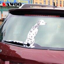 KAWOO Divertente Cartone Animato Adesivi Per Auto Cane Dalmata Coda In Movimento Adesivi Parabrezza Posteriore Window Wiper Decor Sticker Auto Styling