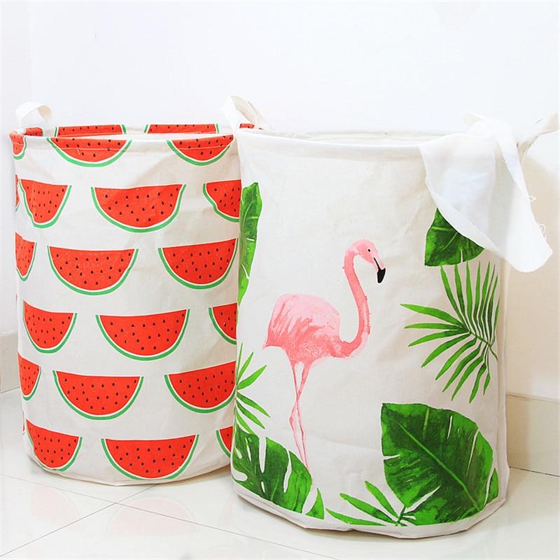 European Laundry Basket Folding Laundry Bags for Driety Clothes Creative Storage Basket for Toys Kirli Sepeti Cesto Organizador