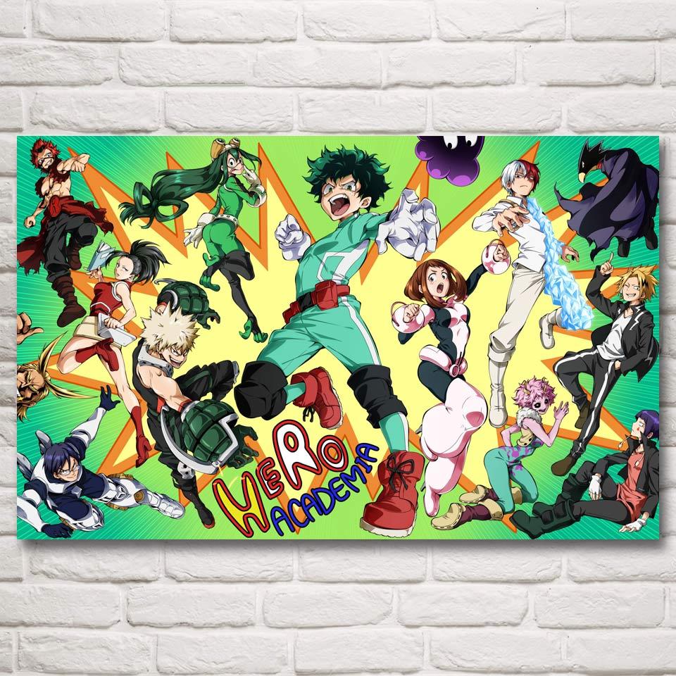 online buy wholesale anime fabric from china anime fabric boku no hero academia japanese anime art silk fabric poster print home decor printing 12x19 19x30