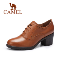 Camel New Women Genuine Leather Oxford Shoes Lace Up Casual Shoes Female A63196632