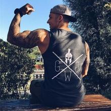 Mens Bodybuilding Tank Top Gyms Fitness Sleeveless Shirt Cas