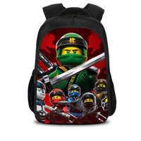 Sacs d'école enfants ninjago jeu cartable pour garçon sac à dos jeu impression livre sac à dos pour adolescents sac a dos enfant