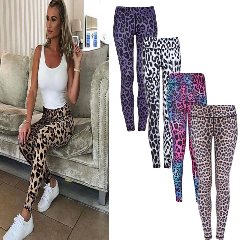 NORMOV 2018 New Autumn Women Leopard   Leggings   Multicolor Sexy Print Fitiness   Legging   Women Casual Pants Trousers