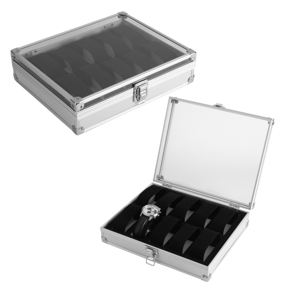 6/12 Grid Jewelry Watches Display Storage Box Case ...
