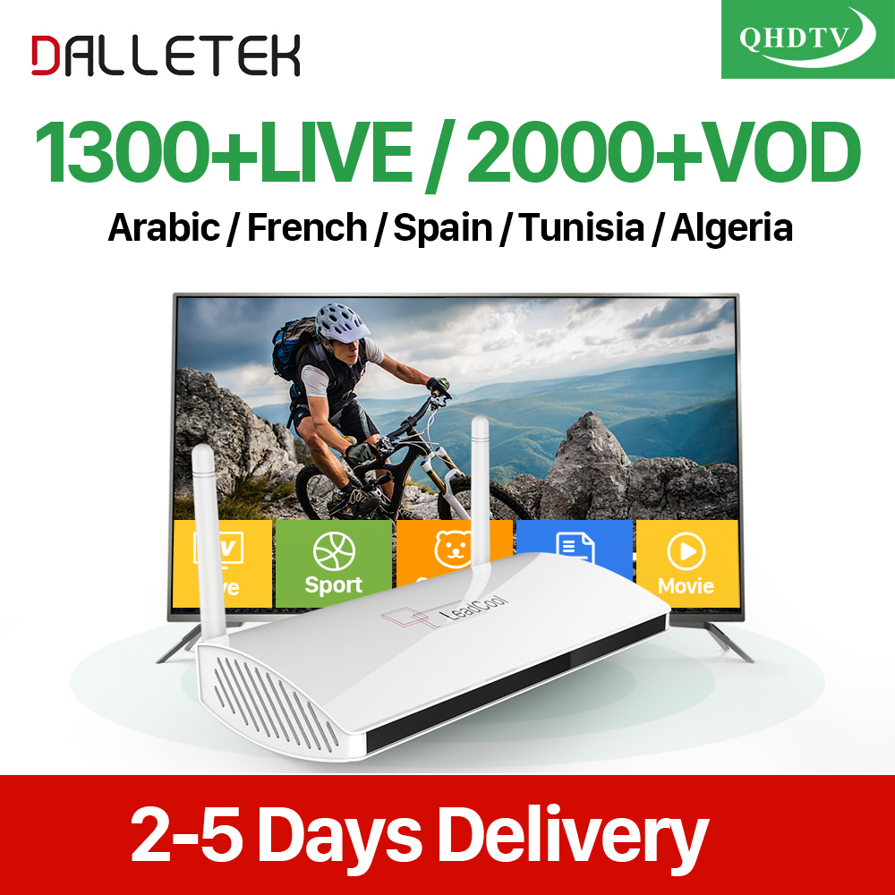 Dalletektv Arabic IPTV Box Leadcool Smart Android 6.0 TV Box 1 Year QHDTV Code IPTV 1300+ Europe Belgium Dutch French IPTV Box