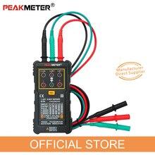 PEAKMETER PM5900 3 индикатор вращения мотора измеритель последовательности тестер Индикатор поворотного поля 3 фазы системы тестирования мотора Multimetro