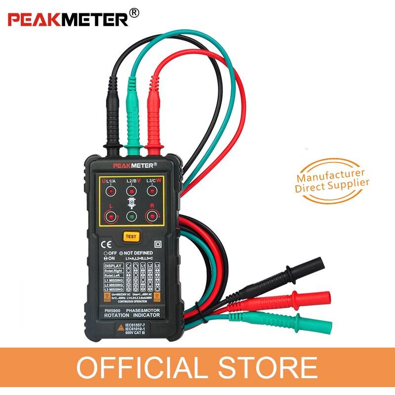 PEAKMETER PM5900 3 Motor 3 Fase Medidor Sequence Rotação Indicador Tester Indicador de Campo Rotativo do Motor Do Sistema De Teste Multimetro