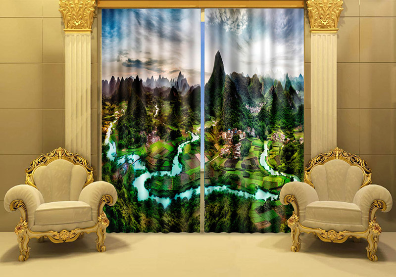 Scenery Curtains popular scenery curtain-buy cheap scenery curtain lots from china