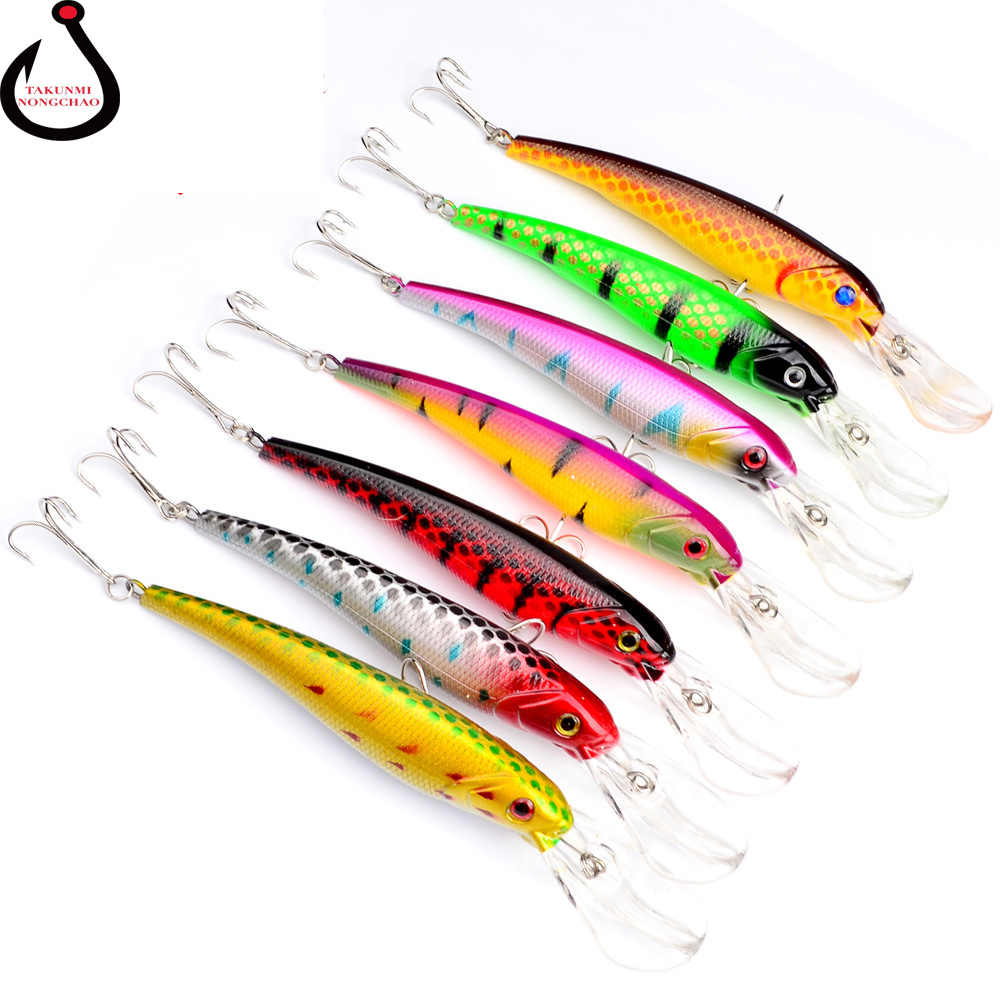 1PCS 16.5cm 28g Wobbler Fishing Lure Big Crankbait Minnow  Trolling Artificial Bait Pike Carp Lures Fishing Accessories LD-146 1pcs 16 5cm 29g big minnow fishing lures deep sea bass lure artificial wobbler fish swim bait diving 3d eyes