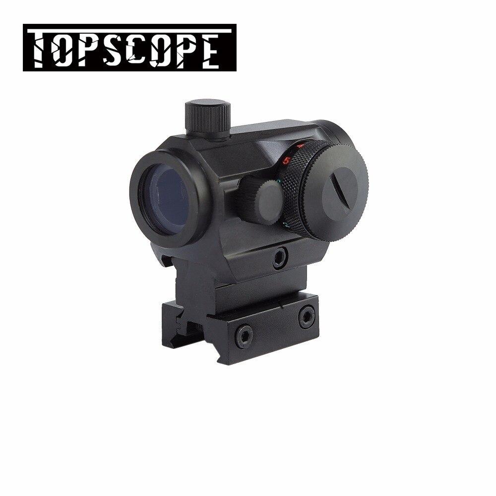Hunting Red Dot Scopes 20mm Rail Reflex Airsoft Air Guns Scopes Mounts Tactical Optics Red/Green Dot Rifle Pistol Sight