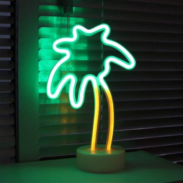 Fashion LED Neon Sign Light Holiday Xmas Party Romantic Wedding Decoration Kids Room Home Decor Flamingo