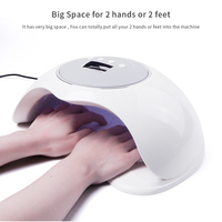 Foreverlily Big Space Two Hand 72W Lamp For Nails 10S/30S/60S/99S Timer Professional Nail Lamp Uv Led Ice Lamp For Nail Manicure