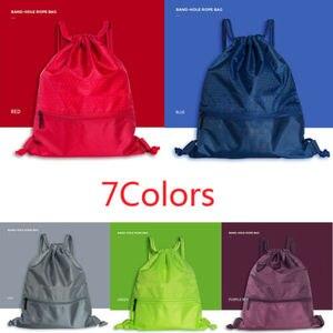Travel Home String Drawstring Backpack Cinch Sack Gym Tote Bag School Sport Pack(China)