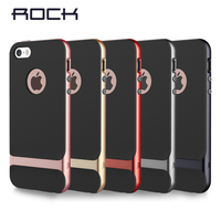 Rock Brighter Case For Iphone Se 5s 4 Inch Flash Light PC Tpu Hard Case For