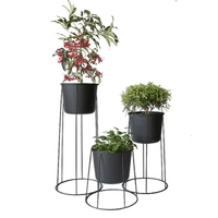 Nordic iron plant indoor balcony floor pot planter