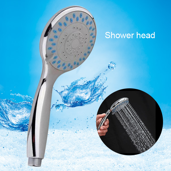 Silver Color Chrome Shower Head with 3 Mode Function Spray Anti-limescale Universal Handheld Home Bathroom Water Saving Accessory